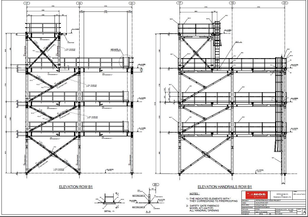 Estructuras metalicas for Escaleras metalicas planos